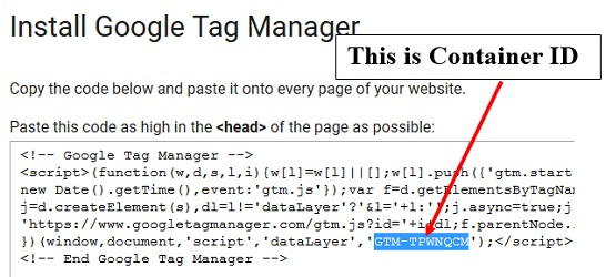 gtm tutorial Google Tag Manager container id