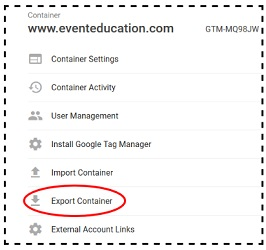 gtm tutorial exporting container files gtm