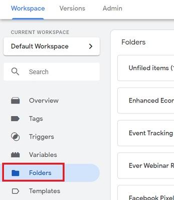 gtm tutorial gtm folders