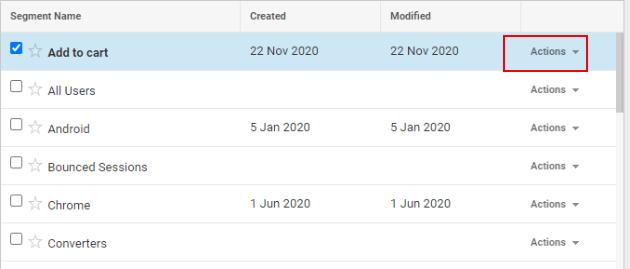 segments in Google Analytics