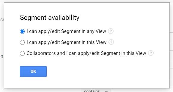segment availability options