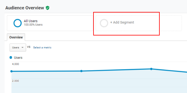 segment creation in reporting interface