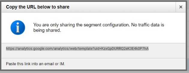 segment sharing configuration