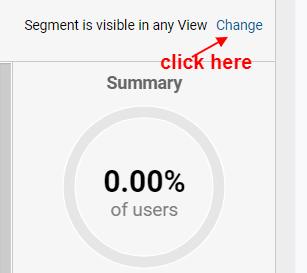 segment visibility settings