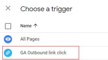 select trigger