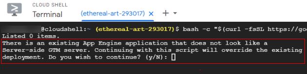 server side tagging command prompt 3