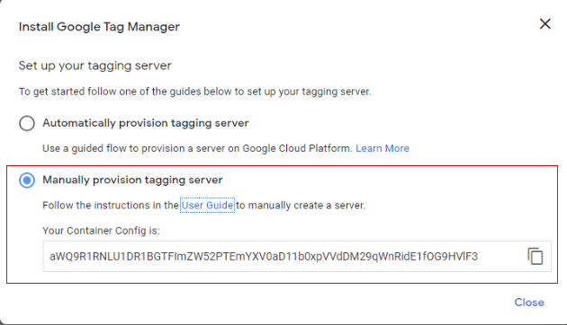 server side tagging create container 5