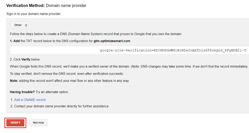 server side tagging custom domain 11 1