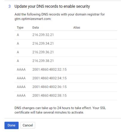 server side tagging custom domain 16a