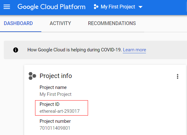 server side tagging project id