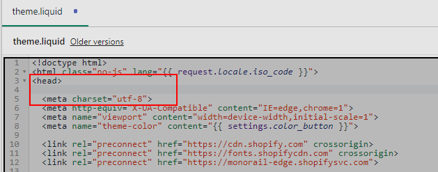 tracking code placement