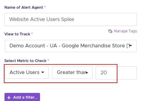 Active users alert