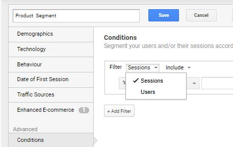 Advanced segment options 1