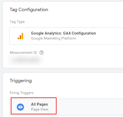 All pages trigger