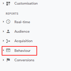 Behaviour menu GA