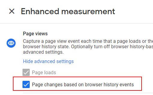 Browser page history events