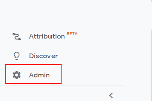 Click on 'Admin in the left hand menu