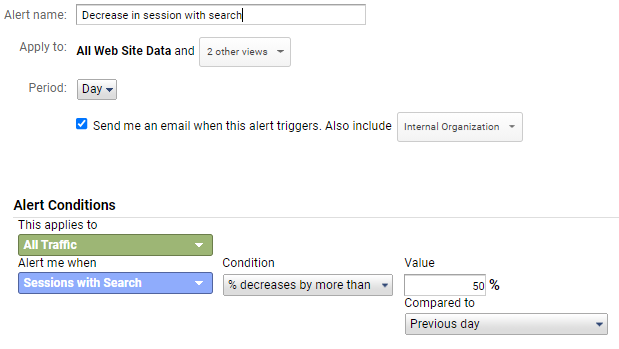 Decrease in session with search
