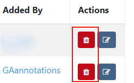 Delete annotations