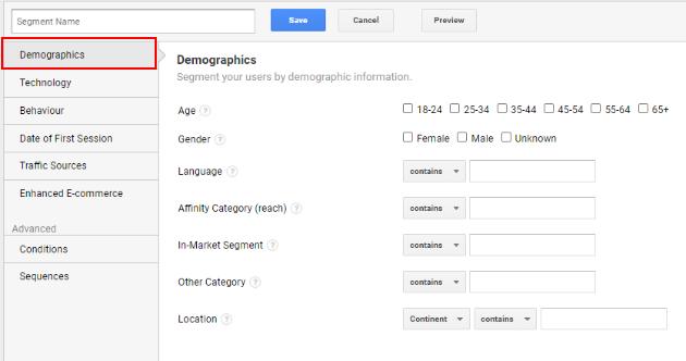 Demographic Segments