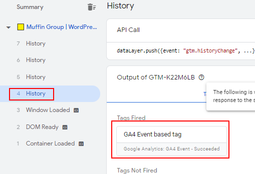 GA4 Event in preview mode