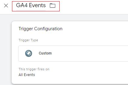 GA4 events trigger