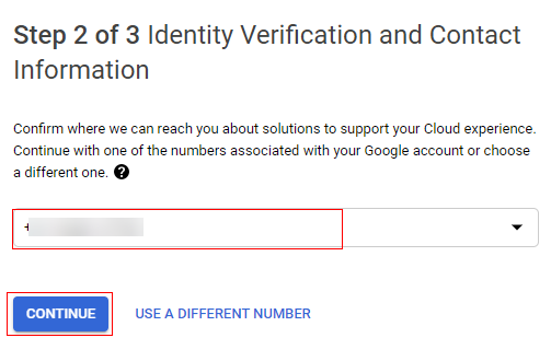 Identity Verification and Contact Information