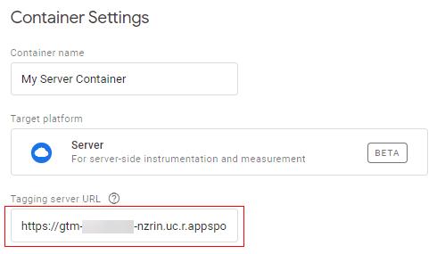 Tagging server URL