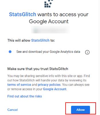 allow access to statsglitch 1