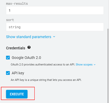 click on 'Execute to run the query