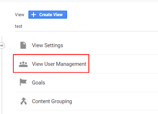 click on 'View user management