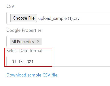 csv date format