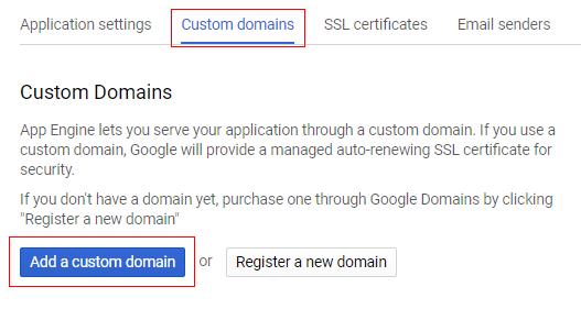 custom domain add