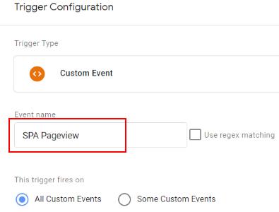 custom event trigger condition