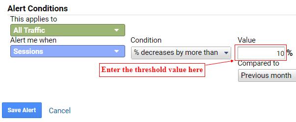 enter threshold value