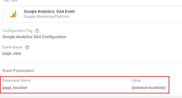 event parameter