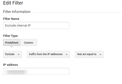 exclude internal IP filter
