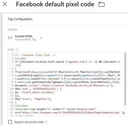 ga training resources Facebook Pixel via Google Tag Manager