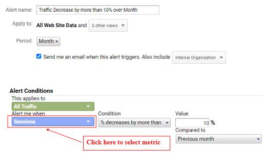 ga training resources google analytics custom alerts