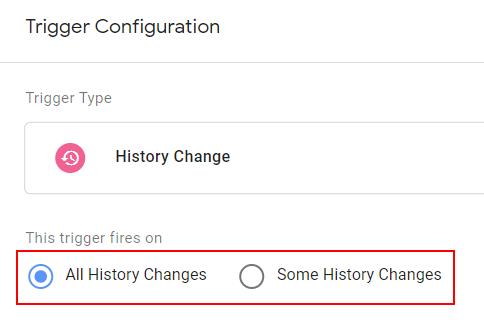 history change trigger configuration
