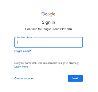 log in with your Gmail credentials
