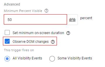 percentage visible