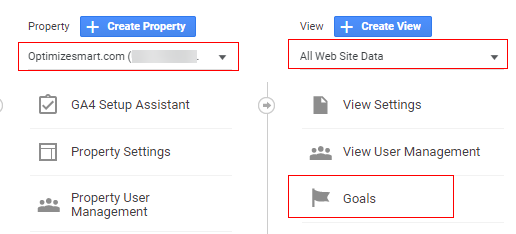select property view and goal