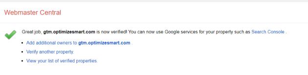 succesful verification