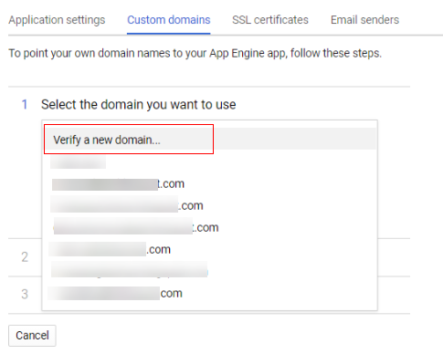 verify a new domain