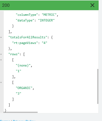 view the medium in the Real Time Reporting API response