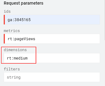 view the medium in the Real Time Reporting API
