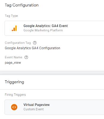 virtual page view tag