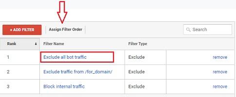 remove referral spam assign filter order google analytics