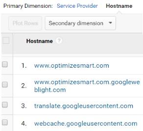 remove referral spam hostname list